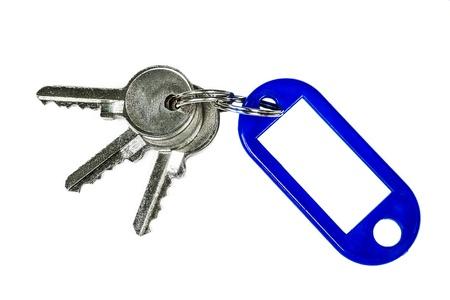 Blue Key Ring