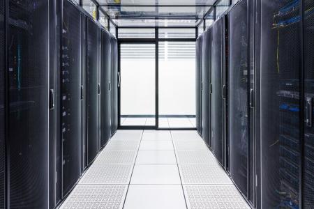 Data Center und Server Room Standard-Bild