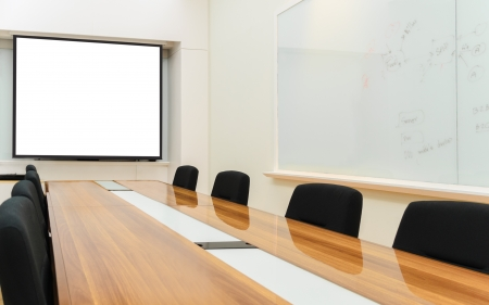 seminar room: Business Office, Meeting room, Conference room, Class room  Stock Photo