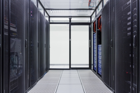 Super-Computer, Server-Raum, Data Center, Data Security-Center Standard-Bild