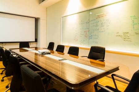 class room: Business Office, Meeting room, Conference room, Class room  Stock Photo