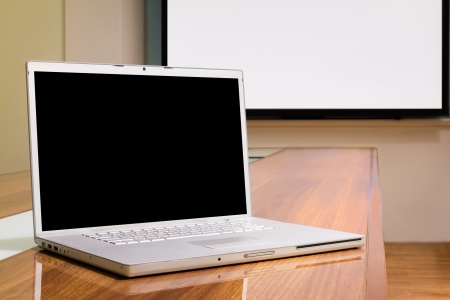 Presentation computer in Business Office, Meeting room, Conference room, Class room  photo