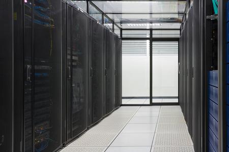 web servers: Modern interior of server room, Super Computer, Server Room, Datacenter, Data Security Center  Stock Photo