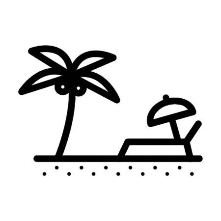 beach vector icon