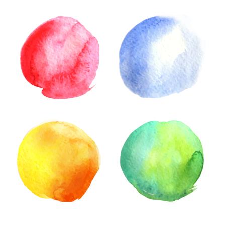 Watercolor circles collection.Vector illustration Illusztráció