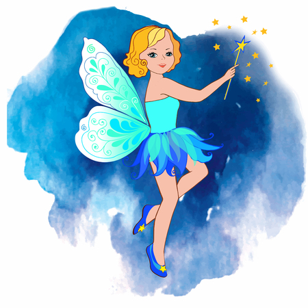 Fairy night. Tooth Fairy. Vector illustration. Vectores