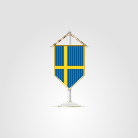 pennon: Pennon with the flag of Sweden