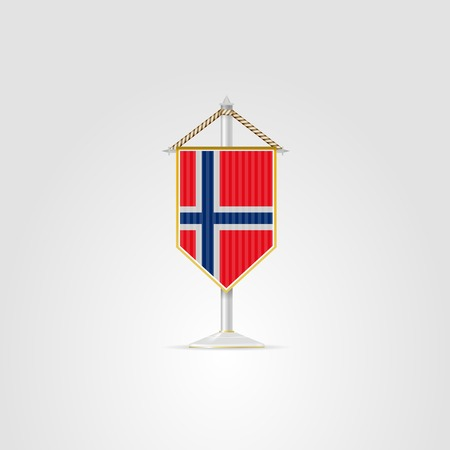 pennon: Pennon with the flag of Norway