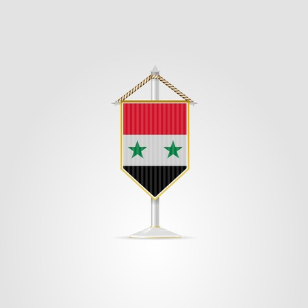 pennon: Pennon with the flag of the Syrian Arab Republic