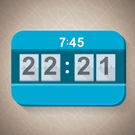 scoreboard timer: Blue basketball segmental mechanical scoreboard on the thematic gray background. Illustration