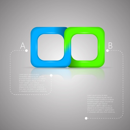 mobius: Bicolor square infinity sign isolated on gray  infographic with Mobius ribbon
