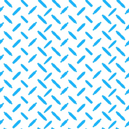 skatepark: Seamless vector pattern with blue silhouette longboards on white background.