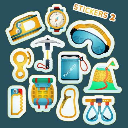 escapement: Colorful stylish stickers collection for rock climbing