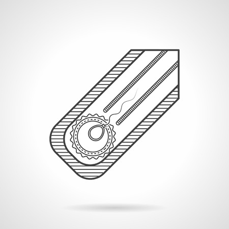 Abstract black flat line vector icon for fertilization in vitro on gray background. Vector