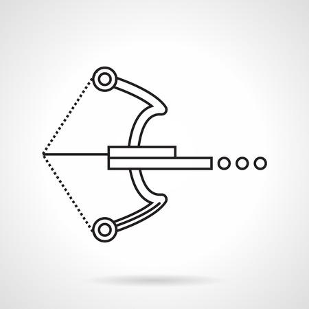 armbrust: Schwarze Linie flach Vektor-Symbol f�r Kugel Armbrust f�r Paintball auf wei�em Hintergrund. Illustration