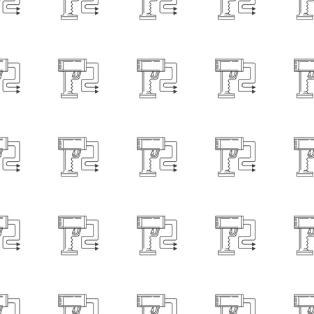 electroshock: Seamless vector pattern for electroshock or stun gun for self-defense on white background.
