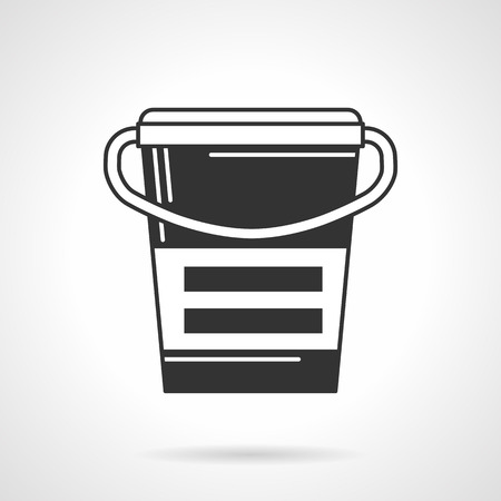 nutritional: Black contour icon for container of nutritional or sports supplements on white background Illustration