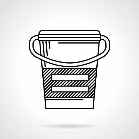 muscle gain: Black line icon for meal replacement can on white background Illustration