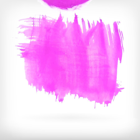 daubs: Watercolor vector illustration or banner with pink brush daubs on gray background.