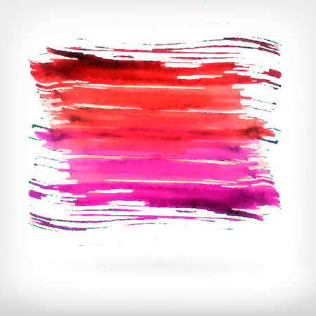 daubs: Watercolor vector illustration or banner with red and pink brush daubs on gray background.