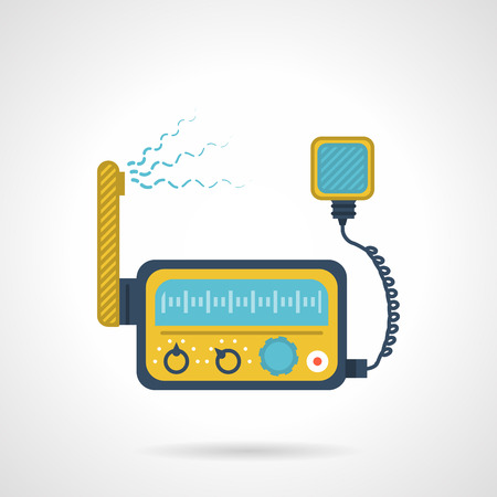 Flat color design vector icon for VHF device on white background.