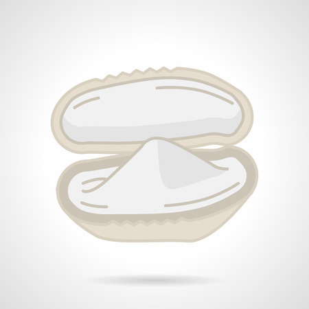bivalve: Flat color vector icon for bivalve oyster on white background.