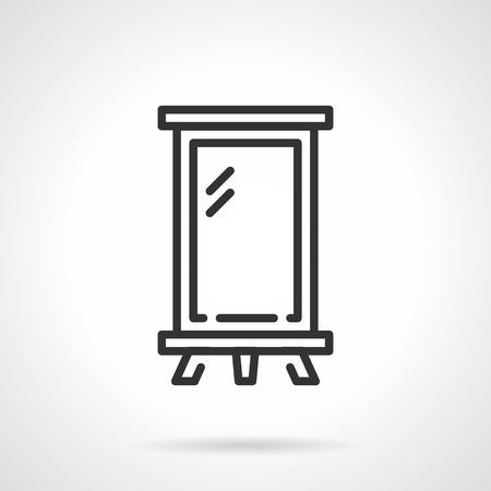 lightbox: Blank billboard or lightbox. Black flat line vector icon on white background.