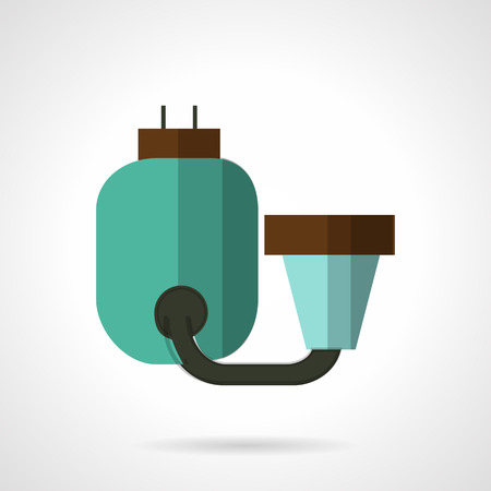 distilled: Flat color design vector icon for water filtering system with tank for home. Design element for business and website Illustration