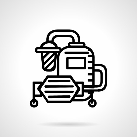 filtering: Simple flat line design vector icon for water filtering system. Industrial and household water treatment. Design element for business and website Illustration
