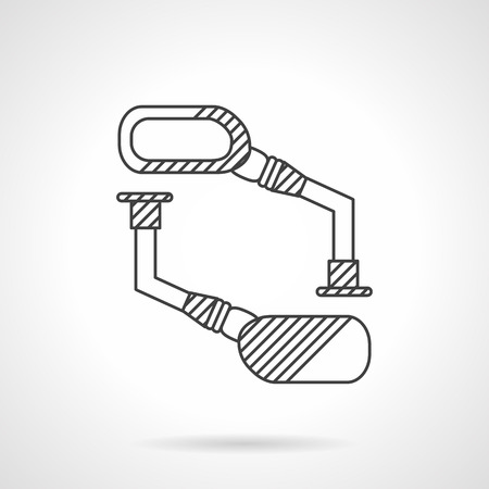 rear wing: Flat line vector icon for bike rear view mirrors. Equipment , accessories and spare parts for bike repair service and store. Design element for business and website Illustration