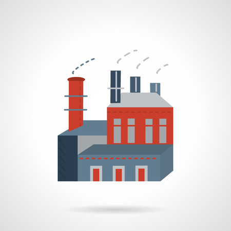 chemical industry: Flat color design vector icon for soap-works factory. Chemical industry. Design element for business and website.