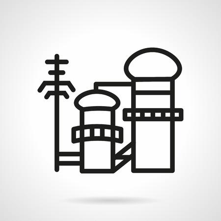 g�lle: Einfache flache Farbe Vektor-Symbol f�r die Zellstoff- und Papierindustrie. Herstellung von Anlagen und Fabriken. Design-Element f�r Gesch�fts-und Website. Illustration