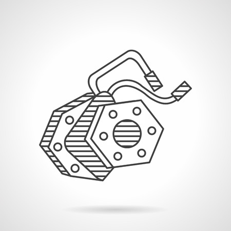Thin line design vector icon for electric drive for e-bike. Spare parts, components for store and repair service, alternative mode of transport. Design elements for business and website