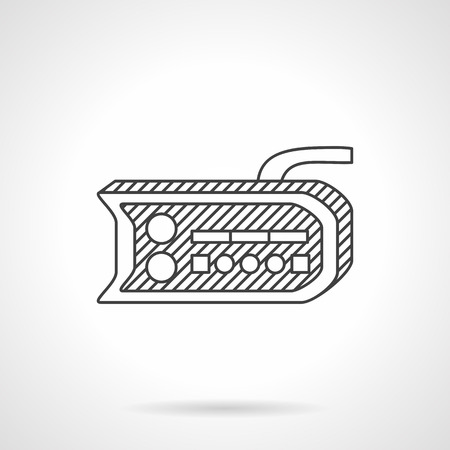 alternative transport: Flat line design vector icon for dashboard for electric bike. Accessories for alternative transport. Design elements for business and website
