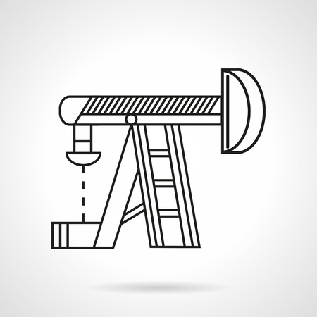 Thin line design vector icon for oil extraction equipment.  Иллюстрация
