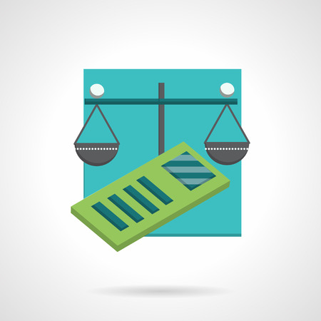 accountancy: Conceptual flat color style vector icon for accountancy.