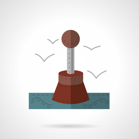 restrictive: Flat color style vector icon for restrictive buoy.