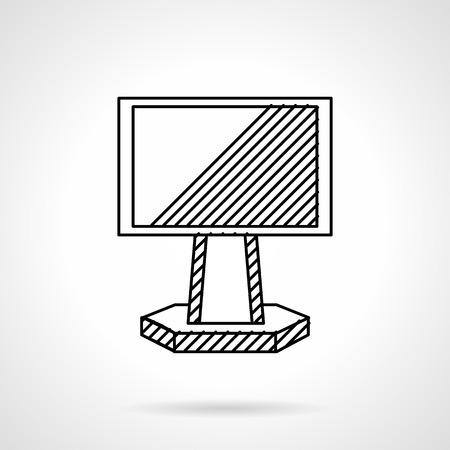 outdoor blank billboard: Flat line design vector icon for ad blank billboard on rack, Outdoor advertising objects.