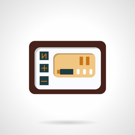handlebar: Simple flat color design vector icon for control panel.