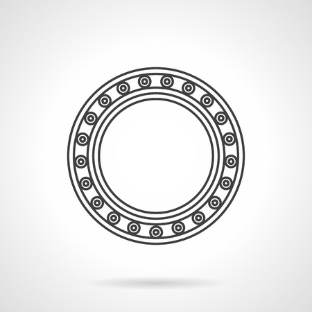 Flat line design icon for roller bearing