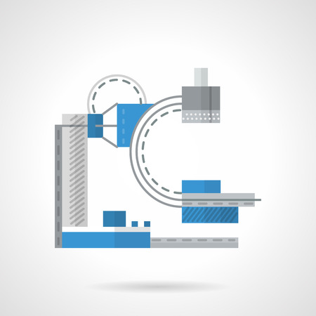xray machine: Flat color style vector icon for medical equipment. X-ray machine, equipment for MRI. Web design elements for business. Illustration