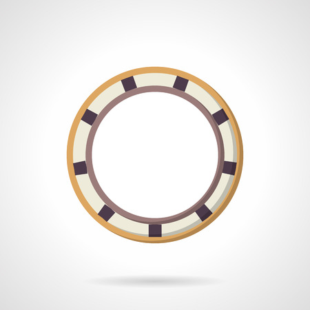 Colored rolling bearing. Flat style vector icon. Parts for reduce rotational friction. Elements for web design and business