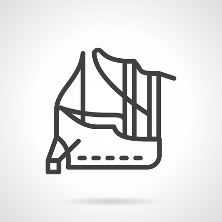 harbour: Ship moored in harbour. Abstract marine symbol. Elements for web design and business Illustration