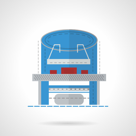 X-ray table. Flat style vector icon. X-ray machine for hospital Elements of web design for business and website. Illustration