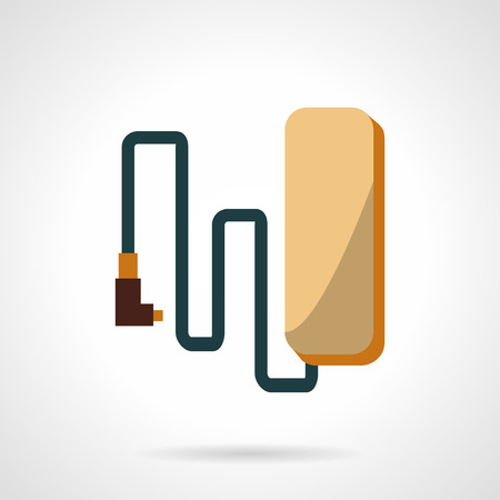recharge: Recharge battery for electric bike. Flat style vector icon. Components and parts for alternative transport. Elements of web design for business and website. Illustration