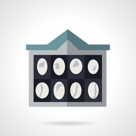 neurosurgery: MRI imaging of brain. Flat color vector icon. Medical diagnostic. Elements of web design for business and website.