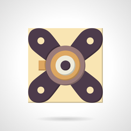 strut: Suspension strut support bearing. Flat color style vector icon. Mechanical parts and components. Elements of web design for business and website. Illustration