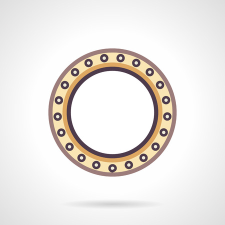bearing: Ball bearing colored flat style vector icon. Mechanical components and parts. Design symbols for website and business.