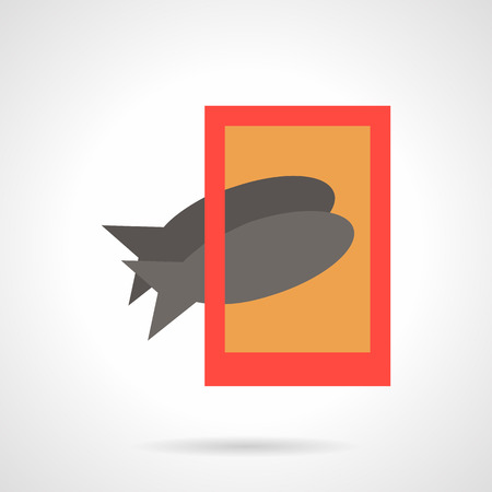 modern lifestyle: Taking photo of two gray fishes with red phone. Simple flat color vector icon. Cat food, food photo, modern lifestyle. Design symbols for website and business.