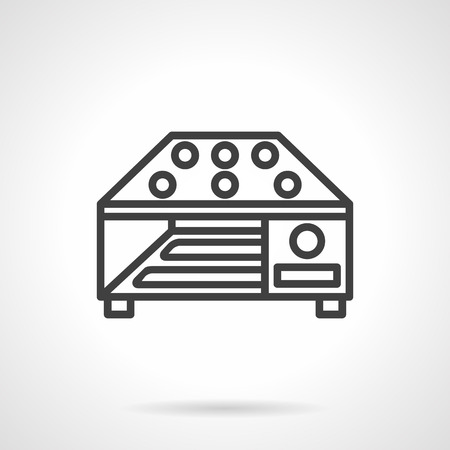 food processing: Grain dryer machine flat line simple vector icon. Food processing equipment. Elements of web design.